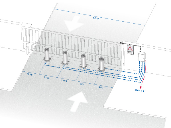 Security-entrance-vehicular-zones