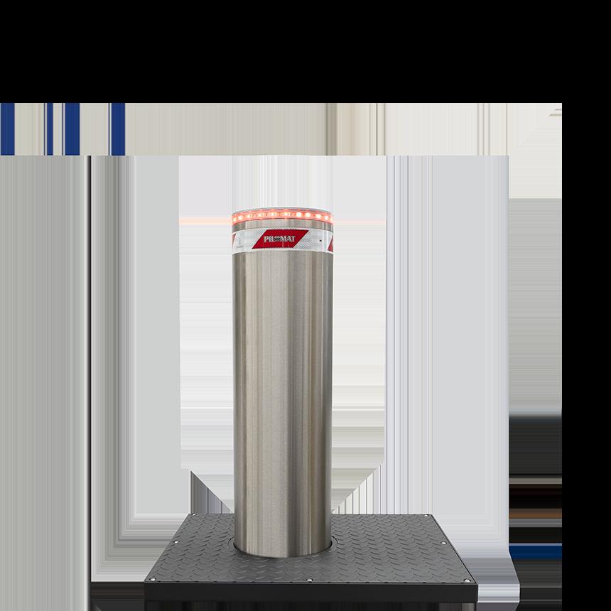 Electromechanical automatic bollard with brushless motor